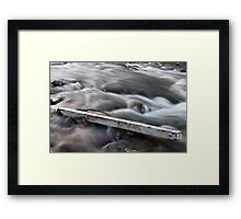 Silky Water and Solid Debris Framed Print