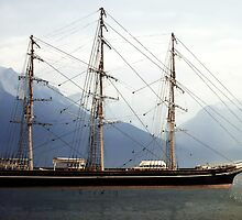 Cutty Sark, Morning in Fjord by diggle