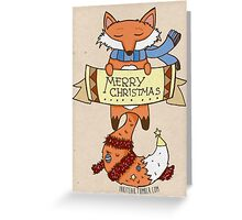 Merry Christmas from Fox Greeting Card