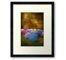 """Any Umbrellas"" Framed Print"