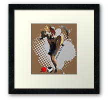 Jaguar Kick Framed Print