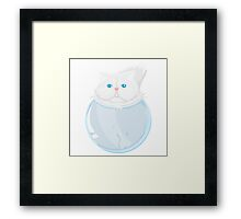 Kitty in a jar Framed Print
