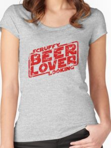 Scruffy Looking Beer Lover Women's Fitted Scoop T-Shirt