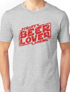 Scruffy Looking Beer Lover Unisex T-Shirt