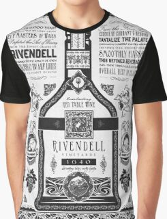 Lord of the Rings Rivendell Wine Vintage Geek Art Graphic T-Shirt