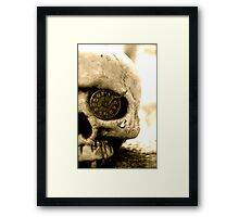 Clockwork Skull Framed Print
