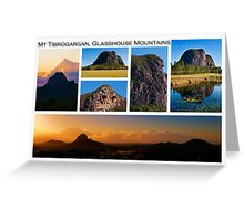 Mt Tibrogargan, Glasshouse Mountains Greeting Card