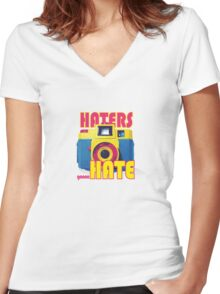 Haters Holga Women's Fitted V-Neck T-Shirt