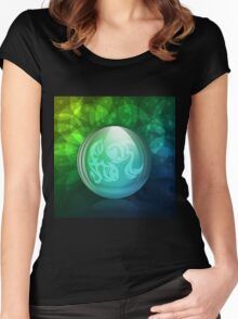 Luminescent snow globe Women's Fitted Scoop T-Shirt