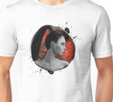 Red Warrior Woman Painting Unisex T-Shirt