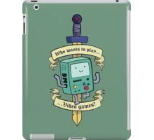 Beemo - Wanna Play Video Games? iPad Case/Skin