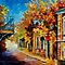 OLD BALCONY - OIL PAINTING BY LEONID AFREMOV by Leonid  Afremov