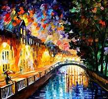 EVENING RAIN- OIL PAINTING BY LEONID AFREMOV by Leonid  Afremov