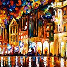 BRUSSELS - GRANDE PLACE - OIL PAINTING BY LEONID AFREMOV by Leonid  Afremov