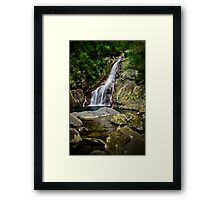 Hiji Falls Far Framed Print