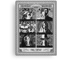 Final Fantasy Jobs Geek Art Poster Canvas Print