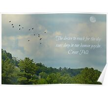 The desire to fly - greeting card Poster