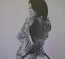 "Pencil Drawing ""My Geisha"" by Dave Castle"