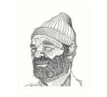 Steve Zissou (Bill Murray) Art Print