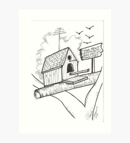 Bird House for Rent Art Print