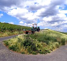 Tractor in German countryside by Katy Marriott