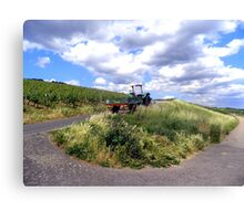Tractor in German countryside Canvas Print