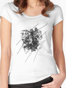 Cool Rusty Grunge Vintage Scratches  Women's Fitted Scoop T-Shirt