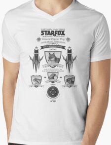 Star Fox Nintendo Vintage Poster Mens V-Neck T-Shirt