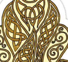 Celtic Cat 7 Cream and Gold Sticker