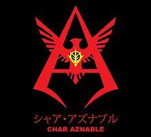 Gundam Char Aznable Logo Emblem by kyzson69
