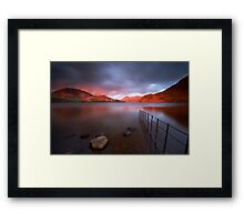 Red Sky at Night Framed Print