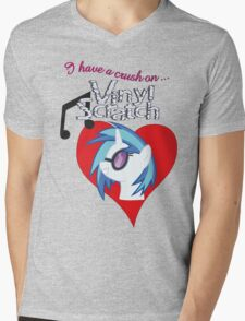 I have a crush on... Vinyl Scratch - with text Mens V-Neck T-Shirt