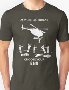 """Zombie Outbreak - """"Choose Your End"""" T-Shirt"""