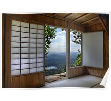 Japan House on Hill Poster