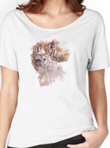 Mononoke and the Wolf Digital Painting Women's Relaxed Fit T-Shirt