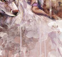 Mononoke and the Wolf Digital Painting Sticker