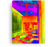 Building site, Germany... with colour! Canvas Print
