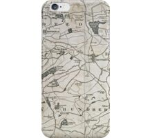 Old Northamptonshire map - Kettering and Rothwell iPhone Case/Skin