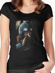 Nausicaa Valley of the Wind Anime Tra Digital Painting  Women's Fitted Scoop T-Shirt