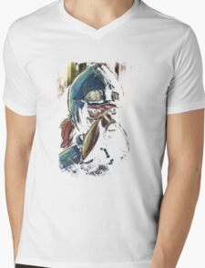Nausicaa Valley of the Wind Anime Tra Digital Painting  Mens V-Neck T-Shirt