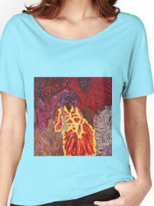 Sage Pourpre et Violette d'Amour by Annie Sène Women's Relaxed Fit T-Shirt