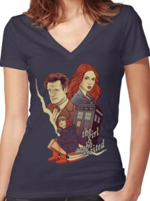 The Girl who waited Women's Fitted V-Neck T-Shirt