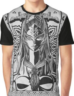Legend of Zelda Midna Twilight Princess Geek Line Artly  Graphic T-Shirt