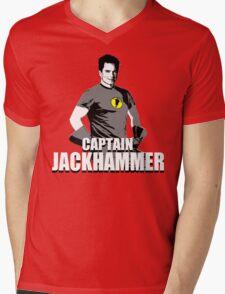 CAPTAIN JACKHAMMER Mens V-Neck T-Shirt