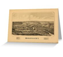 Panoramic Maps Middleville NY Greeting Card