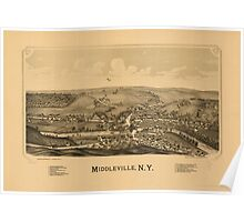 Panoramic Maps Middleville NY Poster