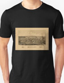 Panoramic Maps Middleville NY Unisex T-Shirt