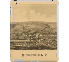 Panoramic Maps Middleville NY iPad Case/Skin