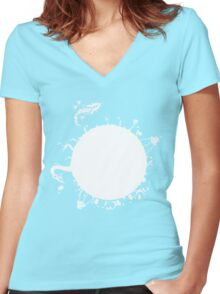 Pikmin Life Women's Fitted V-Neck T-Shirt