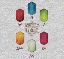 Legend of Zelda The Rupees Geek Line Artly One Piece - Long Sleeve
